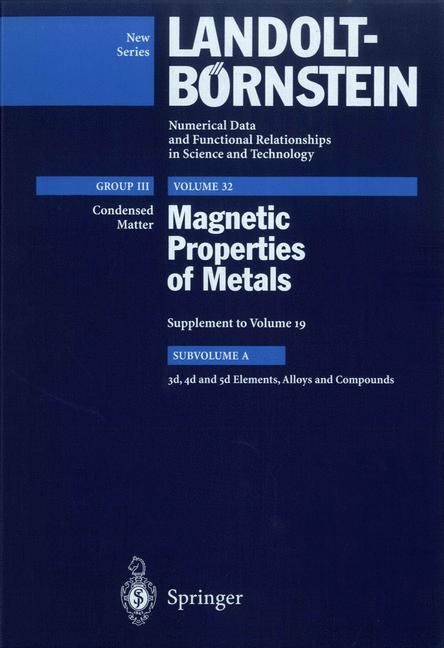 3d, 4d and 5d Elements, Alloys and Compounds, 1997 | Buch (Cover)