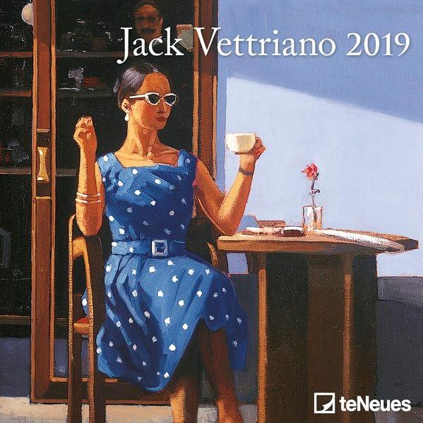 2019 Jack Vettriano Mini Grid Calendar, 2018   Buch (Cover)