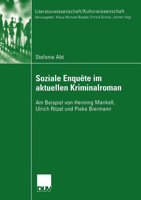 Soziale Enquête im aktuellen Kriminalroman | Abt, 2004 | Buch (Cover)