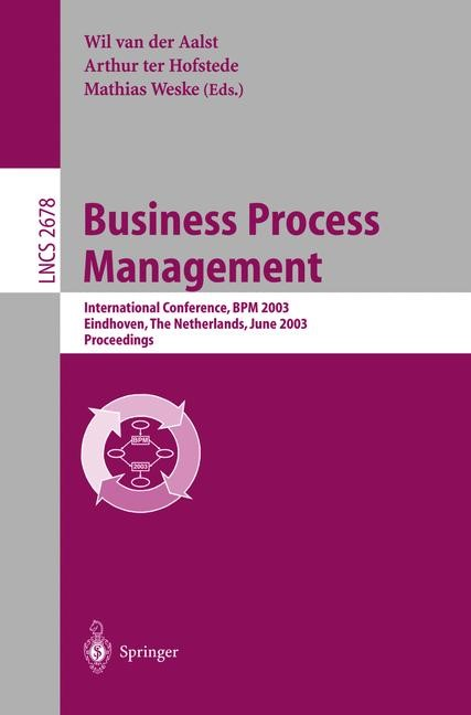 Business Process Management | Aalst / Hofstede / Weske, 2003 | Buch (Cover)
