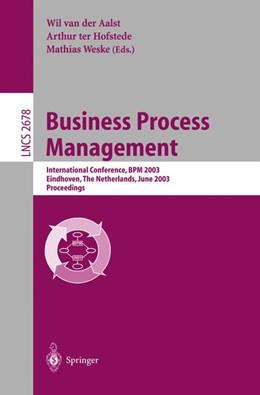 Abbildung von Aalst / Hofstede / Weske | Business Process Management | 2003 | International Conference, BPM ... | 2678