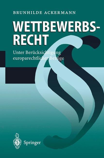 Wettbewerbsrecht | Ackermann, 1997 | Buch (Cover)