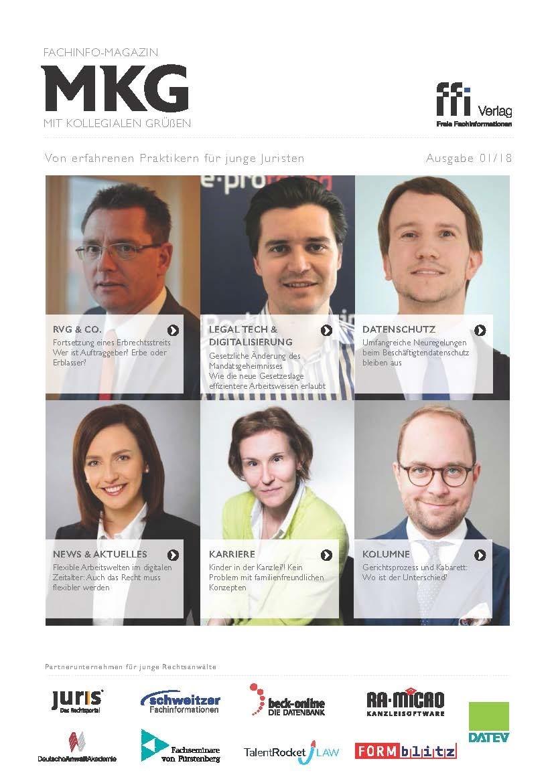 Fachinfo-Magazin  MkG • Ausgabe 01/2018 (Cover)