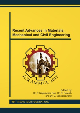 Abbildung von Rao / Kotaiah | Recent Advances in Materials, Mechanical and Civil Engineering | 1. Auflage | 2018 | Volume 877 | beck-shop.de