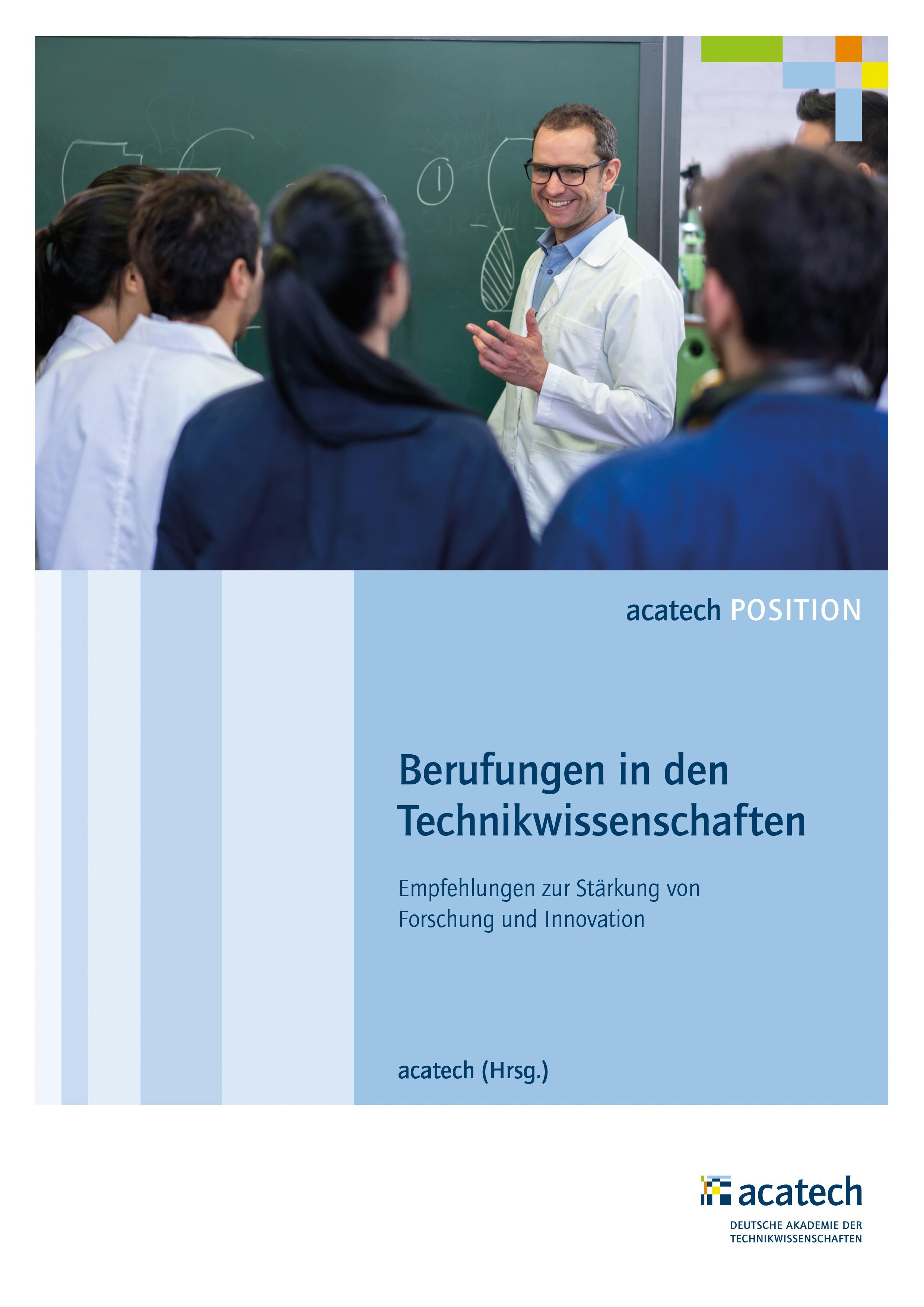 Berufungen in den Technikwissenschaften | Acatech, 2018 | Buch (Cover)