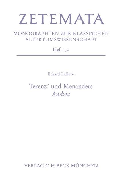 Cover: Eckard Lefevre, Terenz' und Menanders Andria