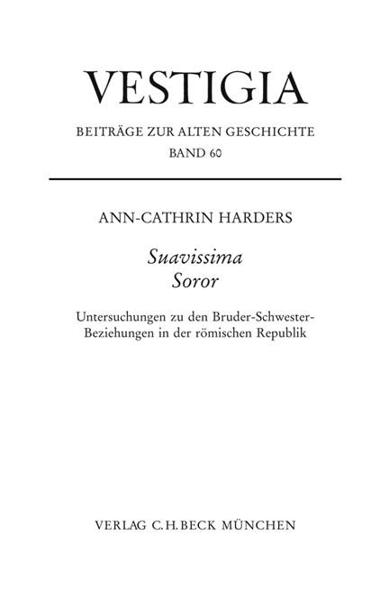 Cover: Ann-Cathrin Harders, Suavissima Soror
