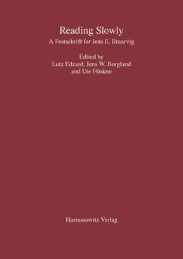 Abbildung von Edzard / Borgland | Reading Slowly | 1. Auflage | 2018 | beck-shop.de