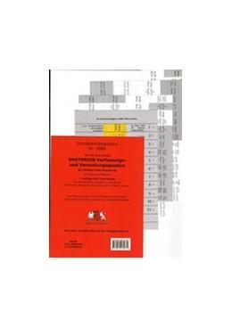 Abbildung von Dürckheim | Dürckheim-Register - Sartorius Hauptband komplett - Nur Gesetzesbezeichnungen (ohne §§) | 7., überarbeitete Auflage | 2018