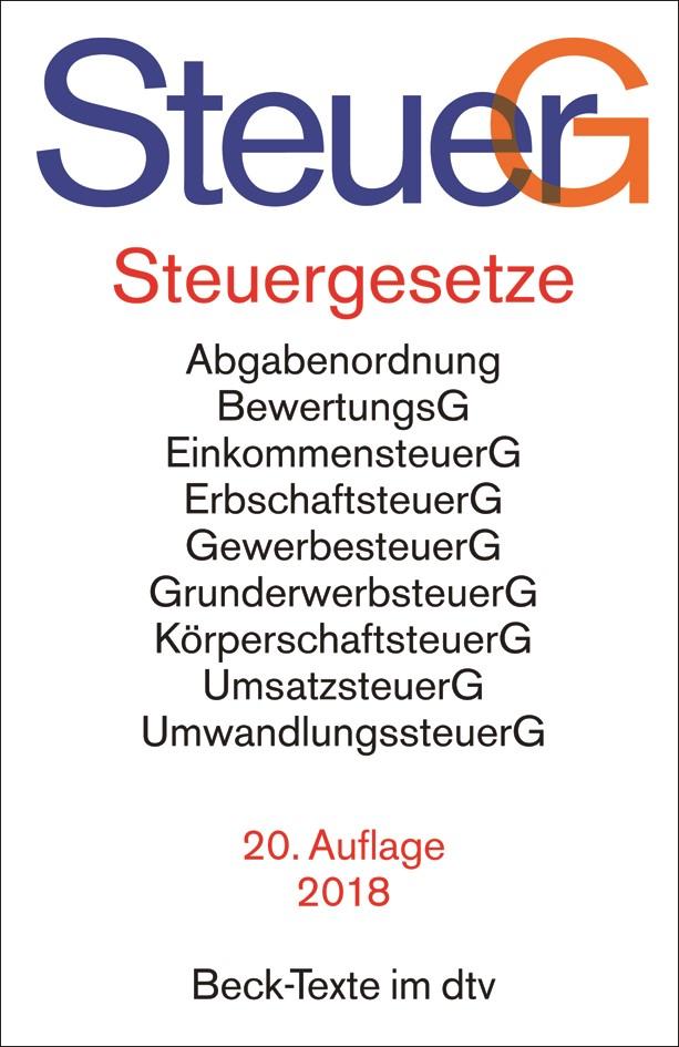 Steuergesetze: SteuerG | 20. Auflage, 2018 | Buch (Cover)