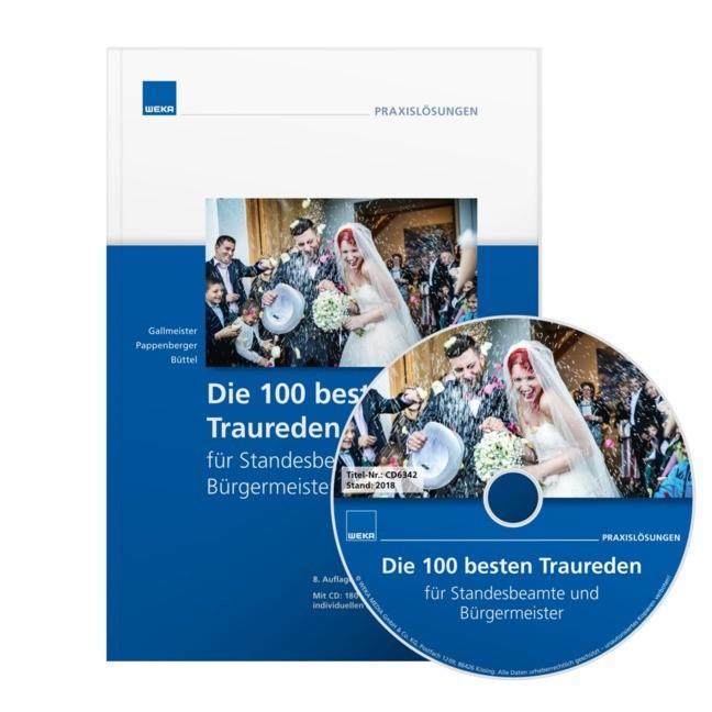 Die 100 besten Traureden für Standesbeamte und Bürgermeister, 2018   Buch (Cover)