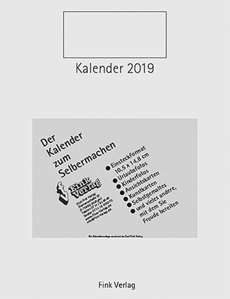 Kalender zum Selbermachen 2019, 2018 (Cover)