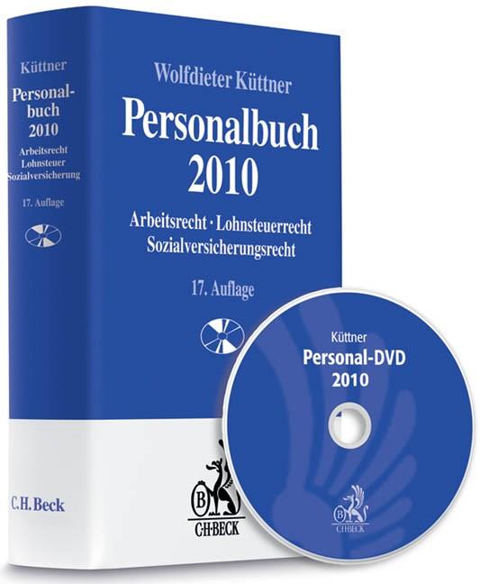 Personalbuch 2010 + Personal-DVD 2010 | Küttner | 17., vollständig neubearbeitete Auflage, 2010 (Cover)