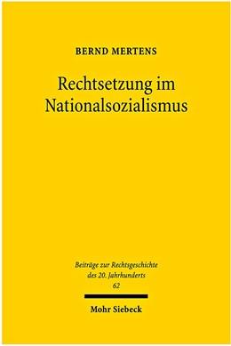 Abbildung von Mertens   Rechtsetzung im Nationalsozialismus   2009   62