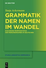 Grammatik der Namen im Wandel | Ackermann, 2018 | Buch (Cover)