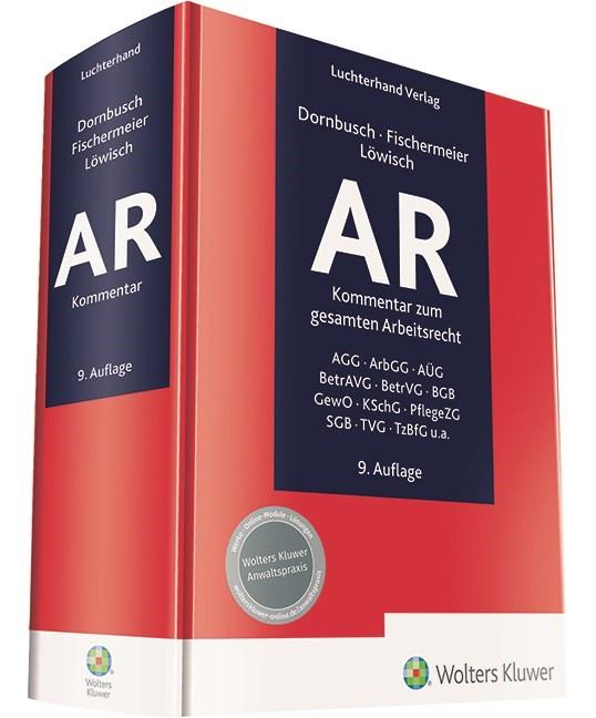 AR - Arbeitsrecht | Dornbusch / Fischermeier / Löwisch (Hrsg.) | 9. Auflage, 2018 | Buch (Cover)