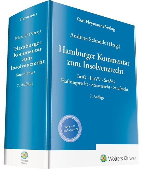 Hamburger Kommentar zum Insolvenzrecht | Schmidt (Hrsg.) | 7. Auflage, 2018 | Buch (Cover)