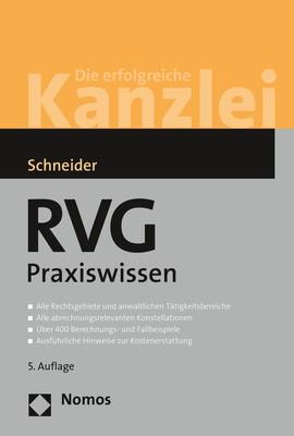 RVG Praxiswissen | Schneider | 5. Auflage, 2018 | Buch (Cover)