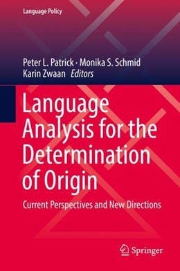 Abbildung von Patrick / Schmid | Language Analysis for the Determination of Origin | 1. Auflage | 2018 | 16 | beck-shop.de
