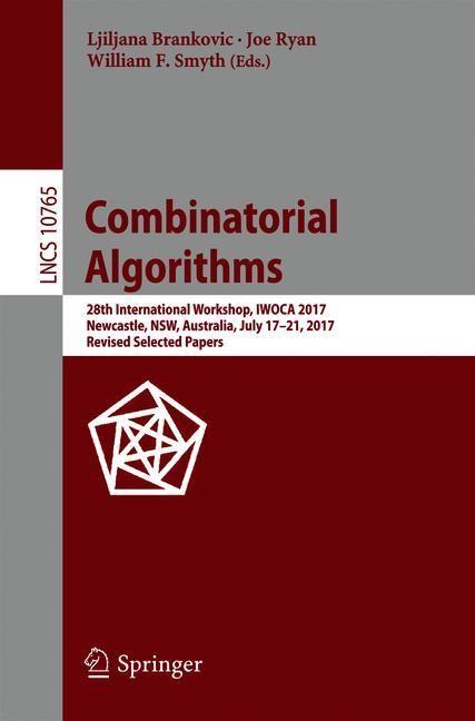 Abbildung von Brankovic / Ryan / Smyth | Combinatorial Algorithms | 1st ed. 2018 | 2018