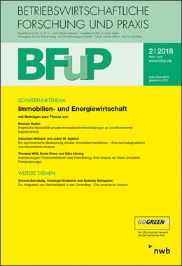 Abbildung von Immobilien- und Energiewirtschaft | 2018 | BFuP 2/2018
