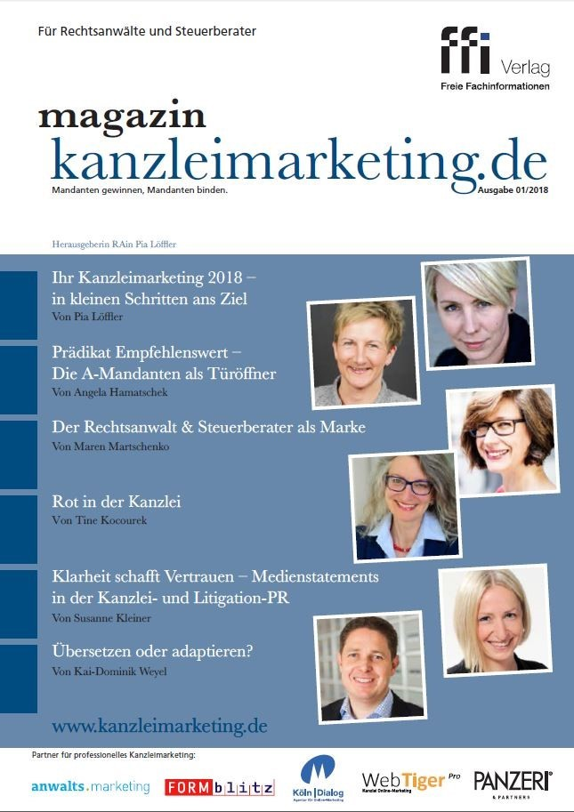 magazin kanzleimarketing.de | 01/2018 (Cover)