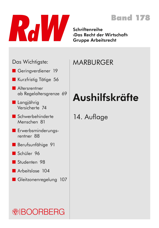 Aushilfskräfte | Marburger, 2018 | Buch (Cover)