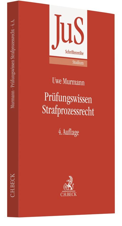 Prüfungswissen Strafprozessrecht | Murmann | 4., vollständig überarbeitete Auflage, 2019 | Buch (Cover)
