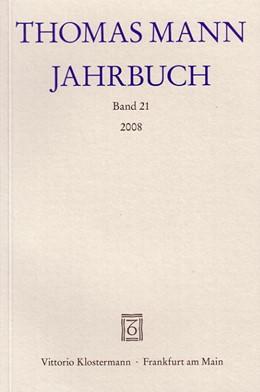 Abbildung von Sprecher / Wimmer | Thomas Mann Jahrbuch | 2008 | Band 21 (2008)