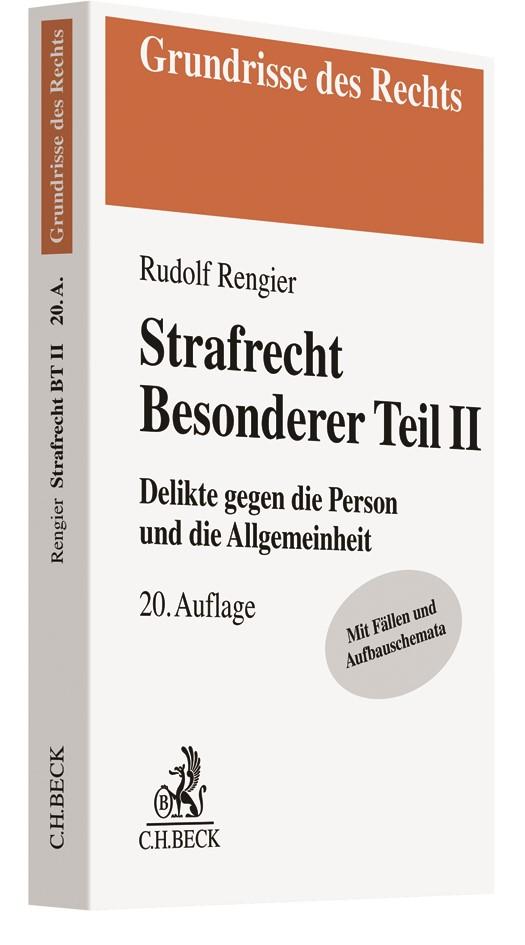 Strafrecht Besonderer Teil II | Rengier | 20. Auflage, 2019 | Buch (Cover)