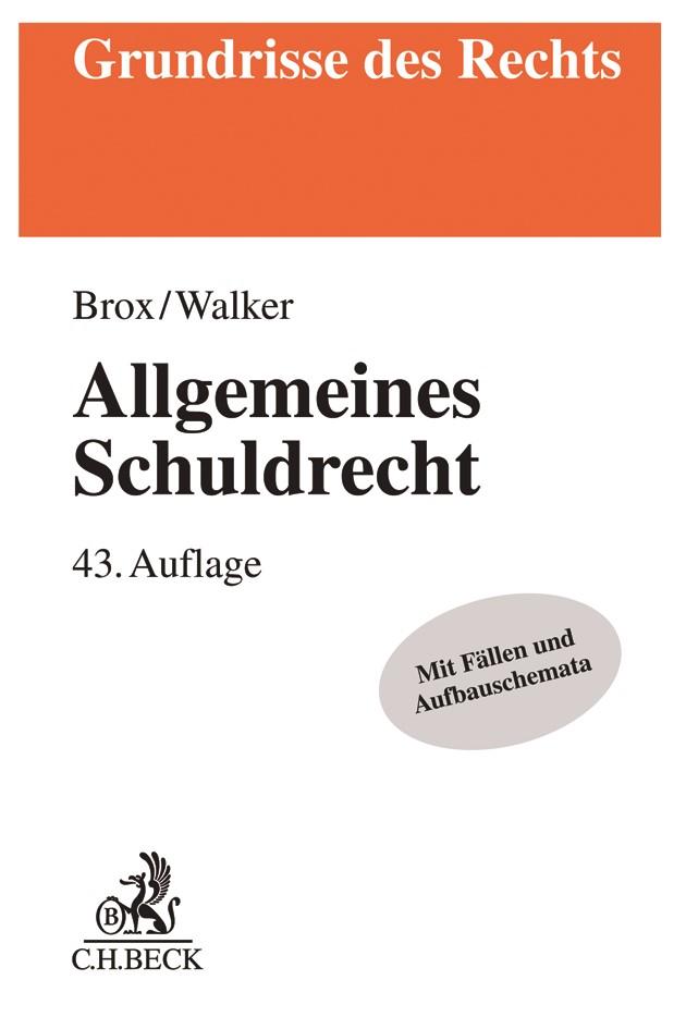 Allgemeines Schuldrecht | Brox / Walker | 43. Auflage, 2019 | Buch (Cover)