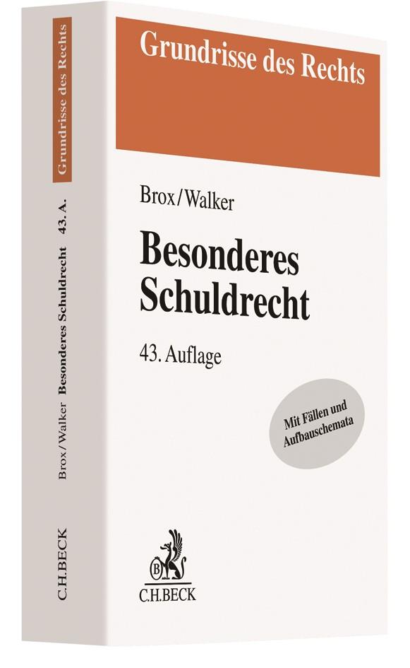 Besonderes Schuldrecht | Brox / Walker | 43. Auflage, 2019 | Buch (Cover)