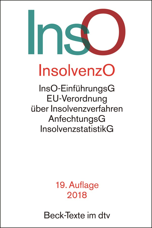 Insolvenzordnung: InsO | 19. Auflage, 2018 | Buch (Cover)