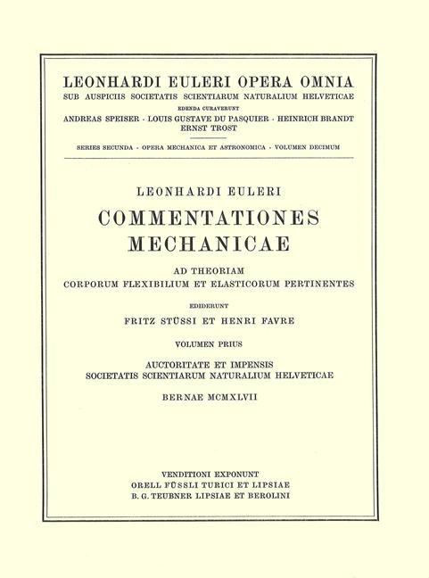 Abbildung von Euler / Fleckenstein | Commentationes mechanicae. Principia mechanica | 1957