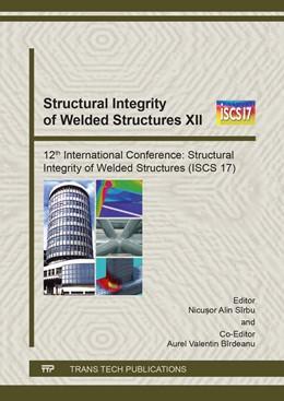Abbildung von S?rbu / B?rdeanu   Structural Integrity of Welded Structures XII   1. Auflage   2018   Volume 1146   beck-shop.de