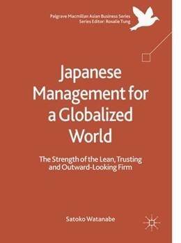 Abbildung von Watanabe   Japanese Management for a Globalized World   1. Auflage   2018   beck-shop.de