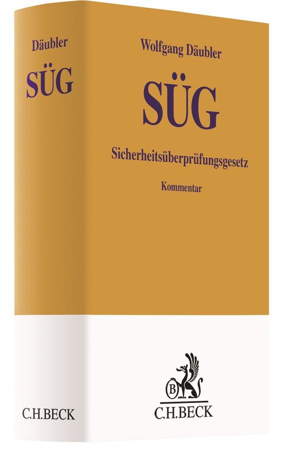 Sicherheitsüberprüfungsgesetz: SÜG   Däubler, 2019   Buch (Cover)