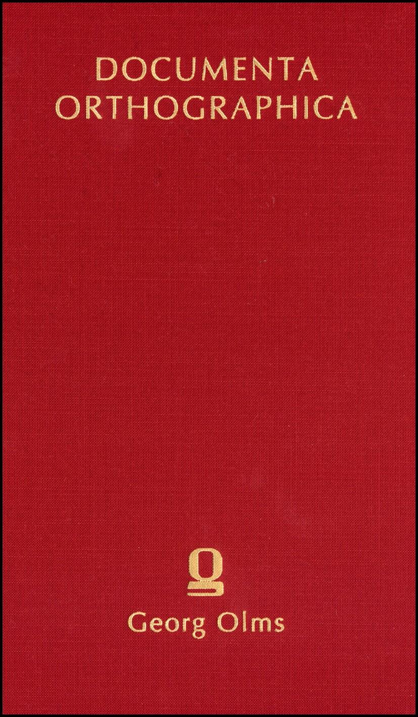 Abbildung von Wilmanns | Die Orthographie in den Schulen Deutschlands (1887) | Berlin 1887  Reprint: Hildesheim 2005 | 2005