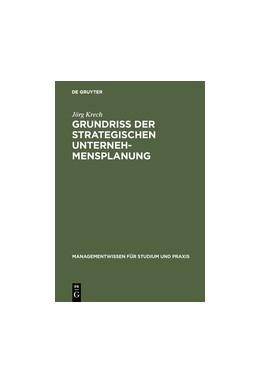 Abbildung von Krech | Grundriß der strategischen Unternehmensplanung | Reprint 2017 | 2018