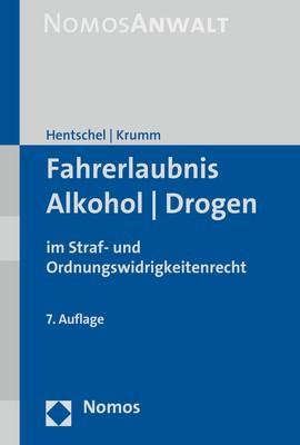 Fahrerlaubnis - Alkohol - Drogen | Hentschel / Krumm | 7. Auflage, 2018 | Buch (Cover)