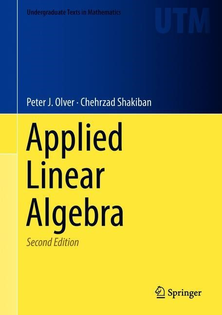 Applied Linear Algebra | Olver / Shakiban | 2nd ed. 2018, 2018 | Buch (Cover)