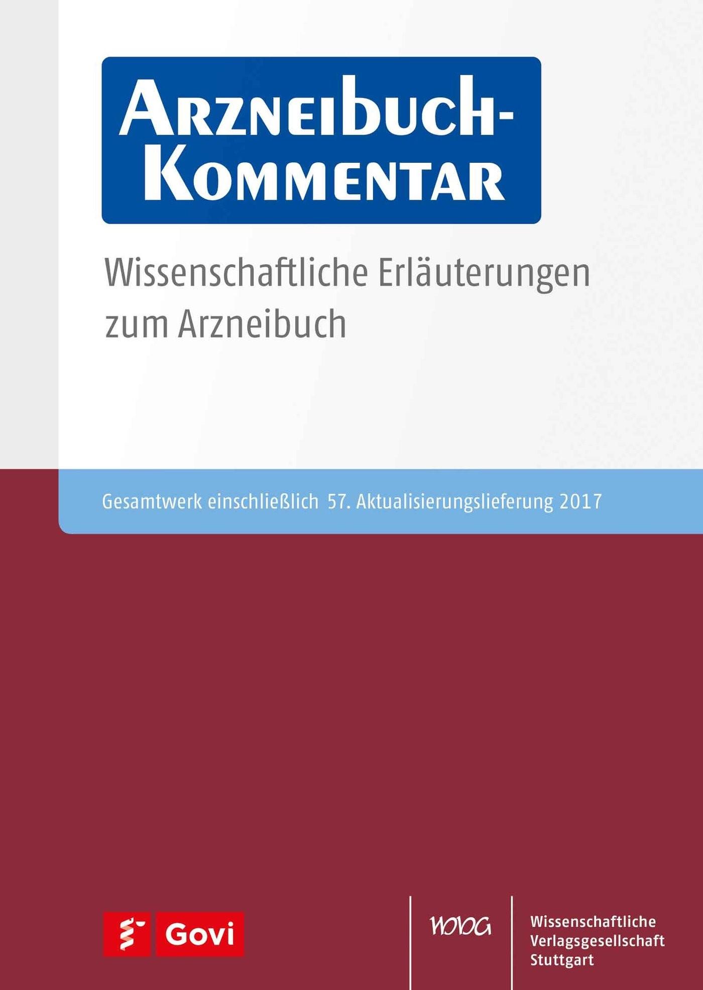 Arzneibuch-Kommentar DVD/Online VOL 57 | Bracher / Heisig / Langguth / Mutschler / Rücker / Schirmeister / Scriba / Stahl-Biskup / Troschütz, 2018 (Cover)