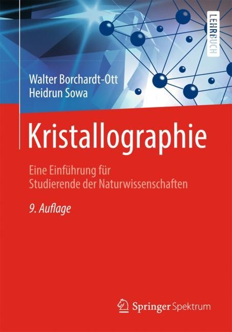 Kristallographie | Borchardt-Ott / Sowa | 9. Aufl. 2018, 2018 | Buch (Cover)