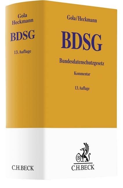 Abbildung von Gola / Heckmann   Bundesdatenschutzgesetz: BDSG   13. Auflage   2019
