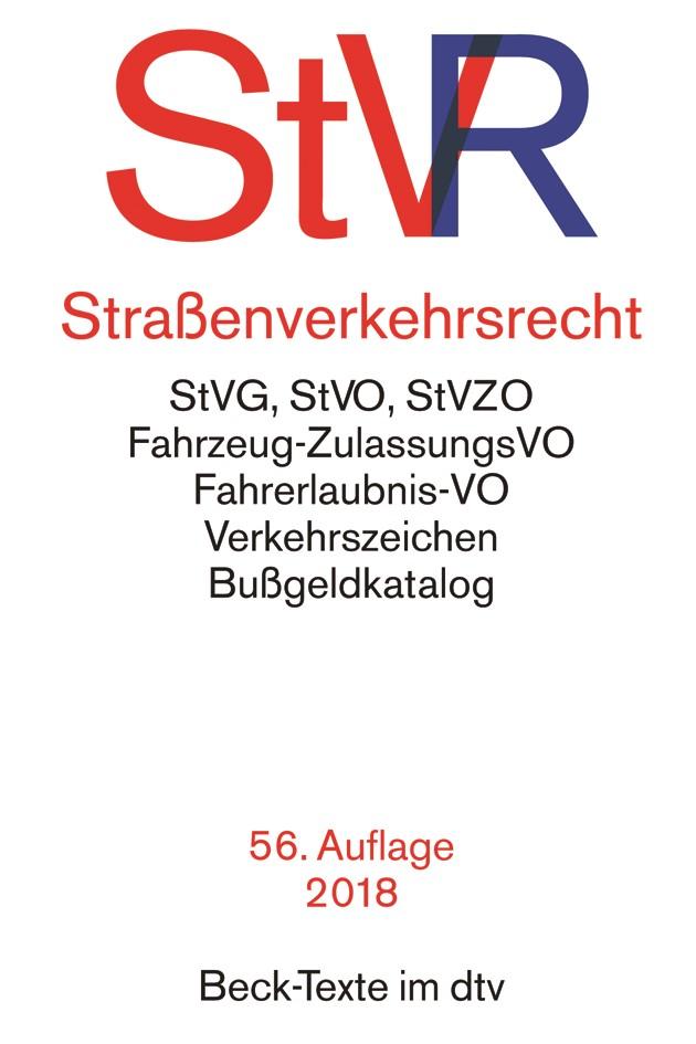 Straßenverkehrsrecht: StVR | 56., neu bearbeitete Auflage, 2018 | Buch (Cover)