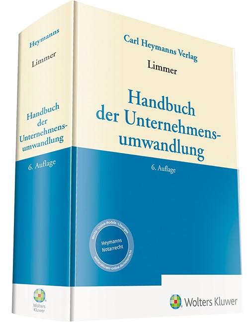 Handbuch der Unternehmensumwandlung | Limmer (Hrsg.) | 6. Auflage, 2018 | Buch (Cover)