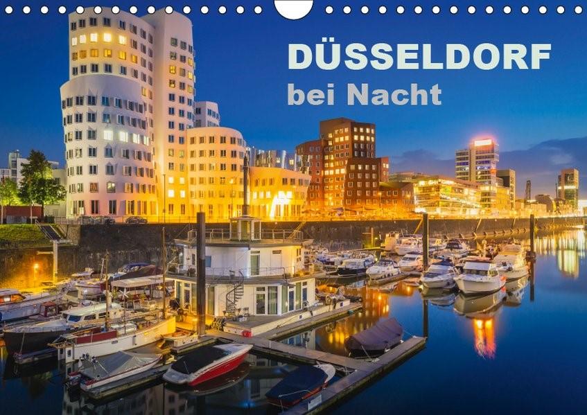 Düsseldorf bei Nacht (Wandkalender 2019 DIN A4 quer) | Abel | 4. Edition 2018, 2018 (Cover)