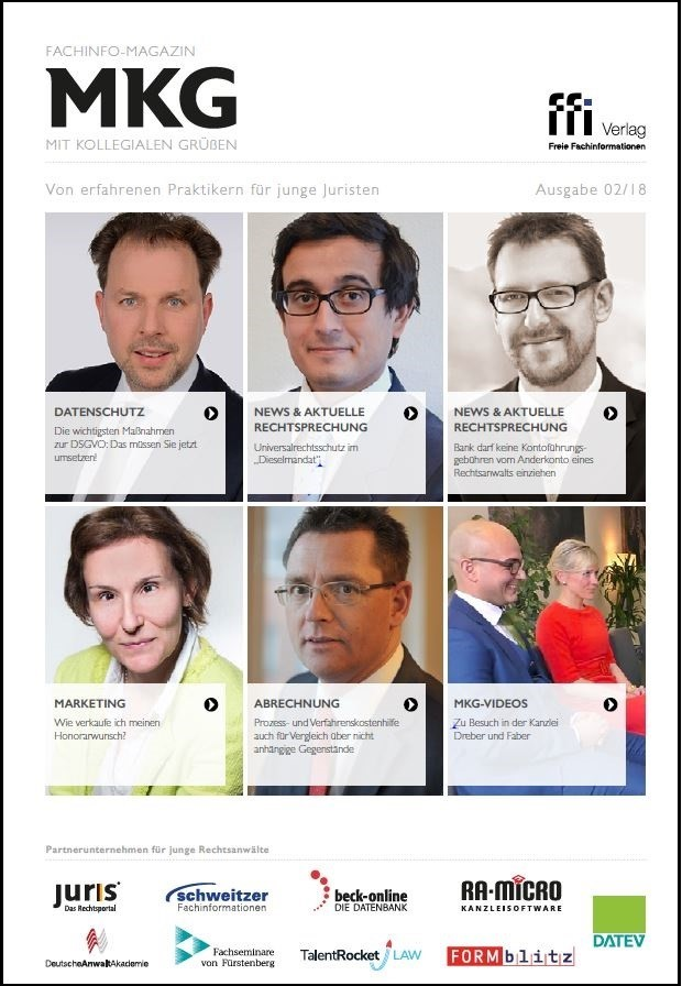 Fachinfo-Magazin  MkG • Ausgabe 02/2018 (Cover)