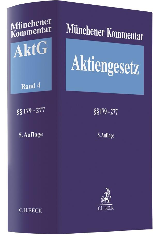 Münchener Kommentar zum Aktiengesetz: AktG, Band 4: §§ 179-277 | 5. Auflage, 2019 | Buch (Cover)