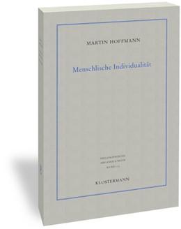 Abbildung von Hoffmann   Menschliche Individualität   2018   2020   Eine Studie zu den epistemolog...